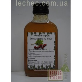 Живой сироп боярышника на меду