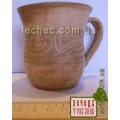 Чашка из глины кофейная